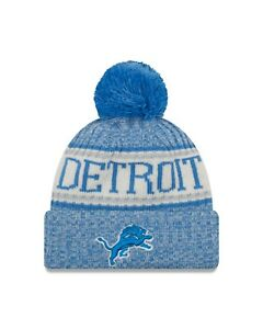 Detroit Lions New Era 2018 Sport Knit Sideline Knit Hat- Blue