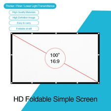 100'' Inch Portable Projector Screen 16:9 Movie Home Theater Backyard 221*124cm