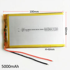 3.7V 5000mAh Lipo Battery Li-polymer For PAD power bank tablet pc Laptop 6060100