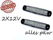2 BEGRENZUNGLEUCHTE 12V 6 LED LAMPE LEUCHTE WEISS LKW PKW ANHÄNGER IVECO MAN DAF