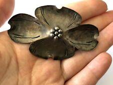 Vintage Sterling Silver 925 Dogwood Blossom Flower Ladies Brooch Pin Stuart Nye