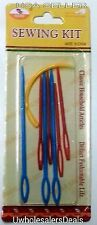Plastic Needles (6 Packs x 8) Knitting Yarn Darning Stitching Wholesale