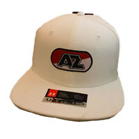 Under Armour AZ Alkmaar Flat Cap UA HeatGear Mens White Adjustable Football Hat