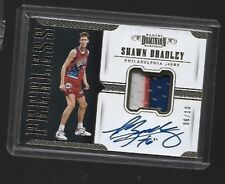 SHAWN BRADLEY 2017-18 PANINI DOMINION PEERLESS ON CARD PATCH AUTO 6/10