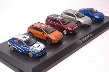 A set of limited edition Subaru car models in scale 1:43