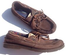 Timberland 9.5 Mens Anti Fatigue Brown Leather Loafers Shoes