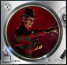 "Nightmare Freddy Krueger Slipmat Turntable 12"" LP Record Player, DJ Audiophile"