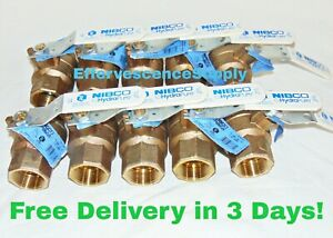 """1-1/2"""" Nibco MSS SP-110 Threaded Brass Ball Valve, 600CWP ($39.99 by the piece)"""
