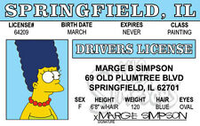The Simpsons MARGE SIMPSON novelty collectors card Drivers License
