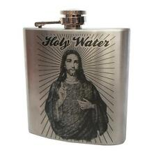 Hip Flask, 6 oz, Stainless Steel, Holy Water Design