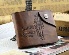 Fashion Vintage Style Bailini Hunter Men Leather Bifold Wallet