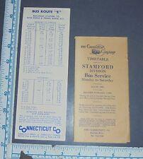 Connecticut Company Bus Timetables 1966