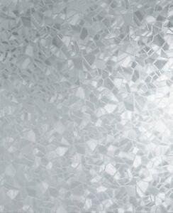 "Decorative Self Adhesive Window Film Splinter 17.71"" x 78"" Door Light Filter USA"