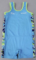 Speedo Girl's UV 50+ One Piece Romper Swimsuit SH3 Blue Multi Size 4-6Y