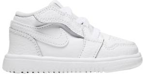 Nike Air Jordan 1 Low ALT TD Triple White Shoes CI3436-130   Youth Toddler 10c