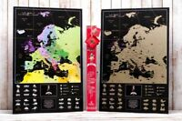 LUXURY SCRATCH MAP OF EUROPE MY MAP EUROPE EDITION ENG IN THE LOVE TUBE + GIFT