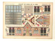 Pellerin Imagerie D'Epinal- 909 Chalet Au Bord de La Mer M. vintage paper model