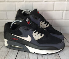 Nike Air Max 90 Essential Black Red Grey White trainers 2012 UK7.5 325018-064