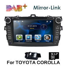 "8"" In Dash For Toyota COROLLA 2009-2010 GPS Navigation Car DVD Player Radio+Cam"
