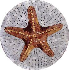 Starfish Marble Mosaic Art Mosaic Designs Marine Life&Nautical Mosaic Tile