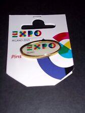 EXPO 2015 Milan (Milano)   RARE White Oval Logo Pavilion Pin