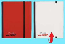 ULTRA PRO FLIP RED WHITE PRO-BINDER 160 Cards 20 Side Load Pages MTG Book Album