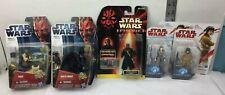 Star Wars 5 New Pack Figure Lot Disney Hasbro Yoda Darth Maul Vader Rey Rose