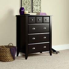 Shoal Creek 4 Drawers Dresser Chest Dark Brown Wood Finish Furniture