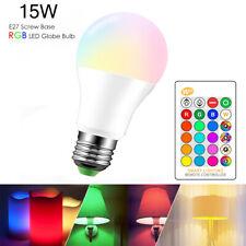 E27 10W LED Glühbirne mit Fernbedienung Farbwechsel Leuchtmittel Birne RGB+Weiß