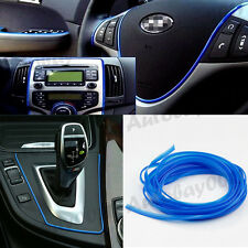 5M Blue Flexible Car Styling Interior Molding Trim Decor Edge Strip Gap Filler