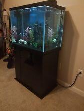 56 Gallon Column Marineland Aquarium & Corresponding Stand