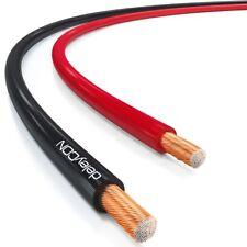 deleyCON 10m Lautsprecherkabel 0,75mm² CCA Lautsprecher Boxen Kabel Rot/Schwarz
