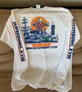 Vintage NNT Tampa Bay SuperBowl 18 1984 T-shirt Logo 7  Large - Raiders Redskins