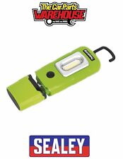 Sealey LED3601G Rechargeable 360 Inspection Lamp 2w COB LED Green Lithiumpolymer