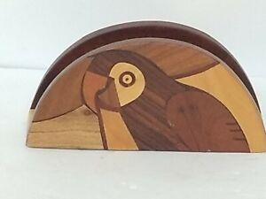 Vintage Myrtlewood Napkin / Letter Holder - Wood Mid Century Modern