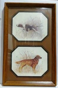 """Vintage Rectangle Double Photo Frame Wood 6""""X7"""" photo 16""""X10"""" Glass Matted #28"""