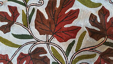 """SILK Leaves 16"""" ARI All Crewel Chain-Stitch Embroidery Pillow-Case Kashmir India"""