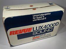 REVUE LUX 4000 D SOUND NORMAL / SUPER 8 FILMPROJEKTOR RETRO VINTAGE OVP