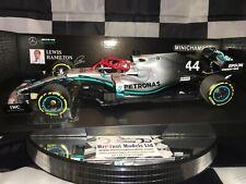 1:18 Minichamps #110190644 Lewis Hamilton Mercedes W10 Niki Lauda Monaco GP 2019