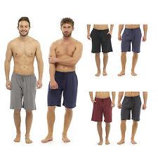 Mens Boys Gents Plain 2 Piece Lounge Shorts Pyjama Short Bottoms Red Black M-XXL