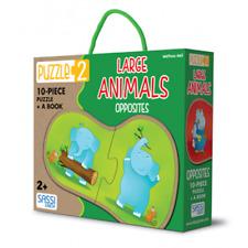 SASSI JUNIOR PUZZLE 2- LARGE ANIMAL OPPOSITES - AGE 2+ GREAT GIFT IDEA