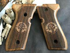 Beretta 92F, 92FS, M9, 96 Walnut Grips Handmade Special Design - US Based Seller