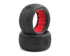 AKA 13120CR Typo 1/10 Buggy EVO Rear Clay Tires With Red Inserts
