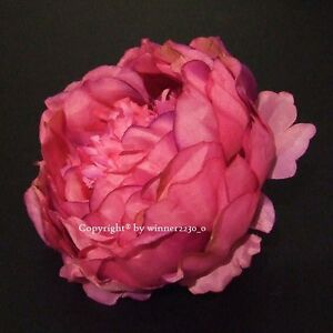 11 Premium Quality HOT PINK Artificial Silk Peony Flower Head DIY Wedding Decor