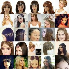 Celebrity Lady Tassel Metal Head Chain Headpiece BOHO Band Hair Headband Jewelry