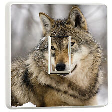 Wolf in the snow nature wildlife light switch (12013462) wolves art