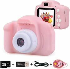 Kids Digital Camera for Girls Age 3-10 Toddler Cameras Mini Cartoon Rechargeable
