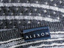 ALEXON SilverStripedGreyPureWoolMixSzM