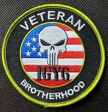 Veteran Brotherhood Skull I Got Your Six Military Embroidered Biker Patch