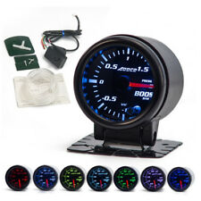 52mm LED Smoke Lens Car Turbo Boost Gauge Kit Minus 1 to 1.5 Bar Meter w/ Sensor
